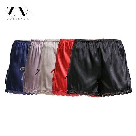ZOLEEVON Pajamas Shorts Women Sleep Shorts Sexy Lingerie Silk Shorts Sleeping Satin Sleepwear Women Bottoms Pajama Shorts Women Lahore