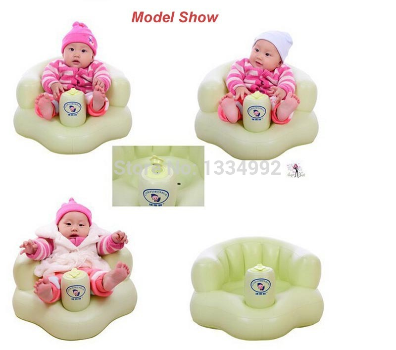 Security Baby Toddler Bath Seat Inflatable Baby Chair Green Child ...
