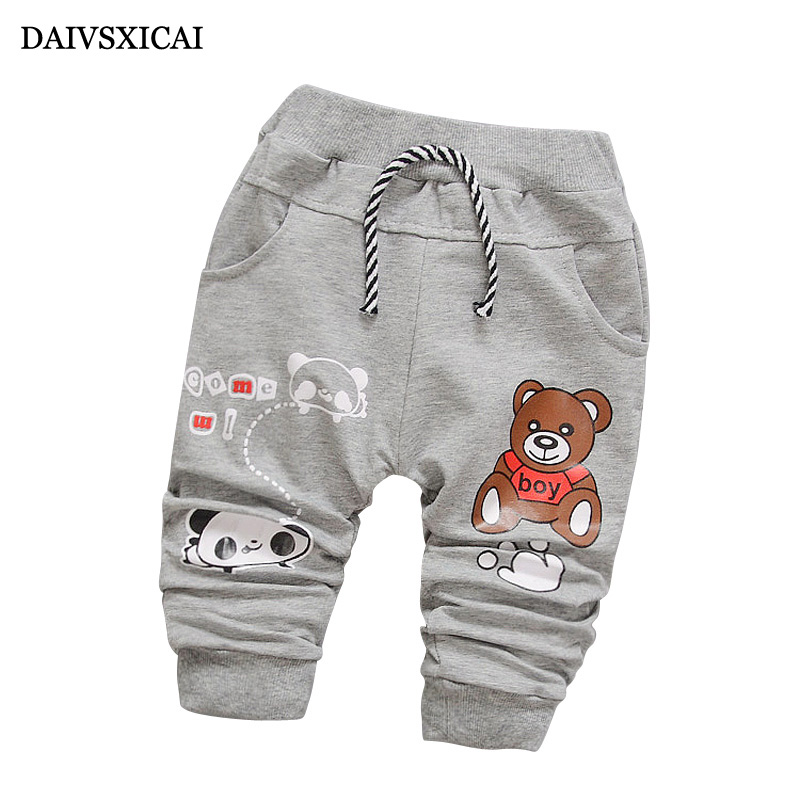 Daivsxicai Pants Baby Cotton Children Casual Cartoon Cute Fashion Boys for 7-24-Month