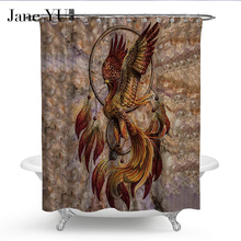 JaneYU 9 Colors 100% Polyester Waterproof cloth Shower Curtains