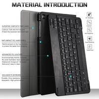 case samsung galaxy 10.1 Inch Tablet Bluetooth Backlit Keyboard For Samsung Galaxy Tab A 10.1 2019 SM-T510 SM-T515 With Leather Case (4)