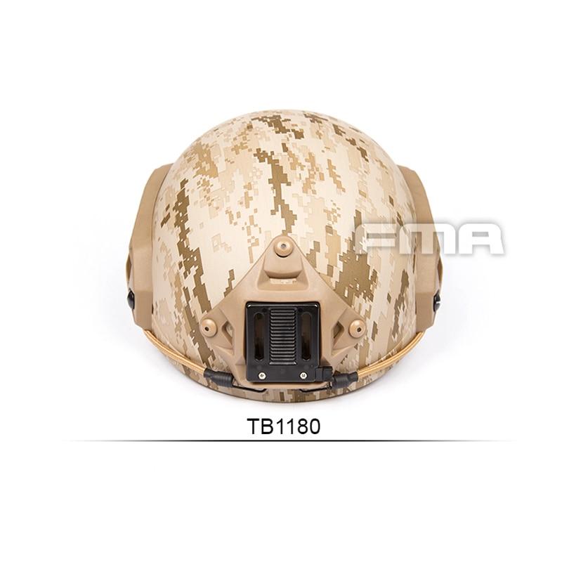New 2019 FMA Tactical Desert Digital Helmet MH Type Maritime Helmet AOR1 For mich AOR1 Devgru TB1180 M L L XL in Helmets from Sports Entertainment