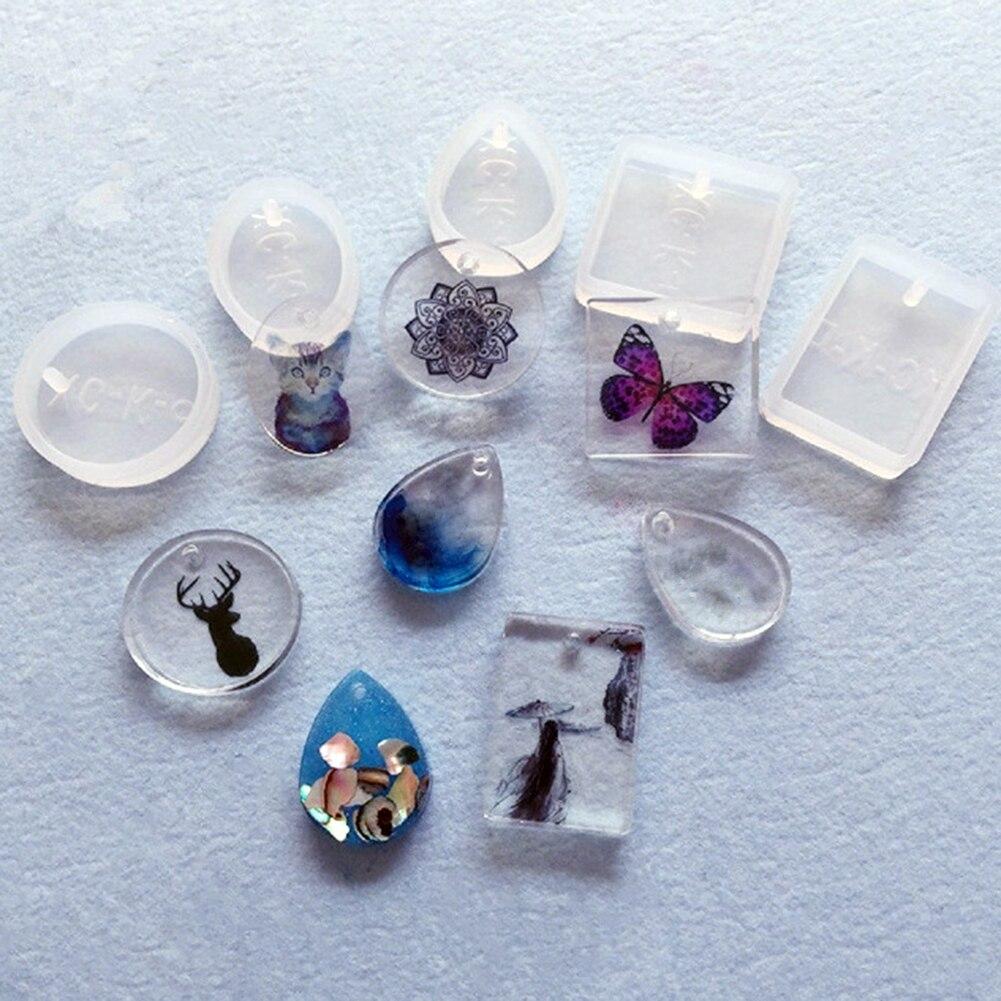 5pcs Set Water Drop Epoxy Crystal Silicone Mould Diy Resin