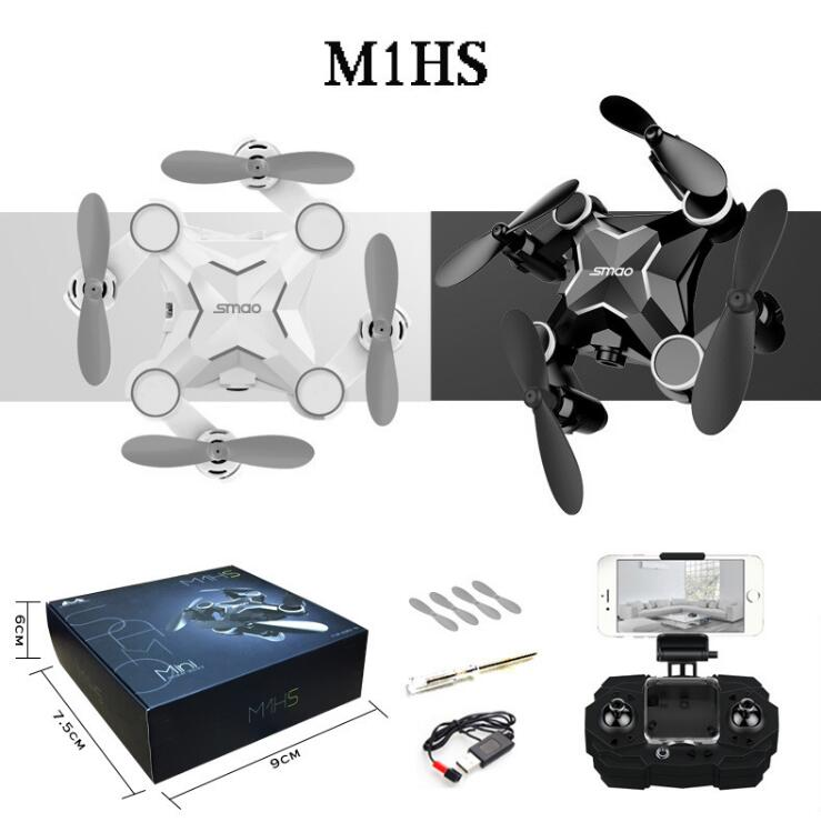 SMRC Mini Drone M1HS FPV Real Time Video 4CH Set High With Controller Dron With HD Wifi Camera RC Toy drone gift for Kids Child rc drones quadrotor plane rtf carbon fiber fpv drone with camera hd quadcopter for qav250 frame flysky fs i6 dron helicopter