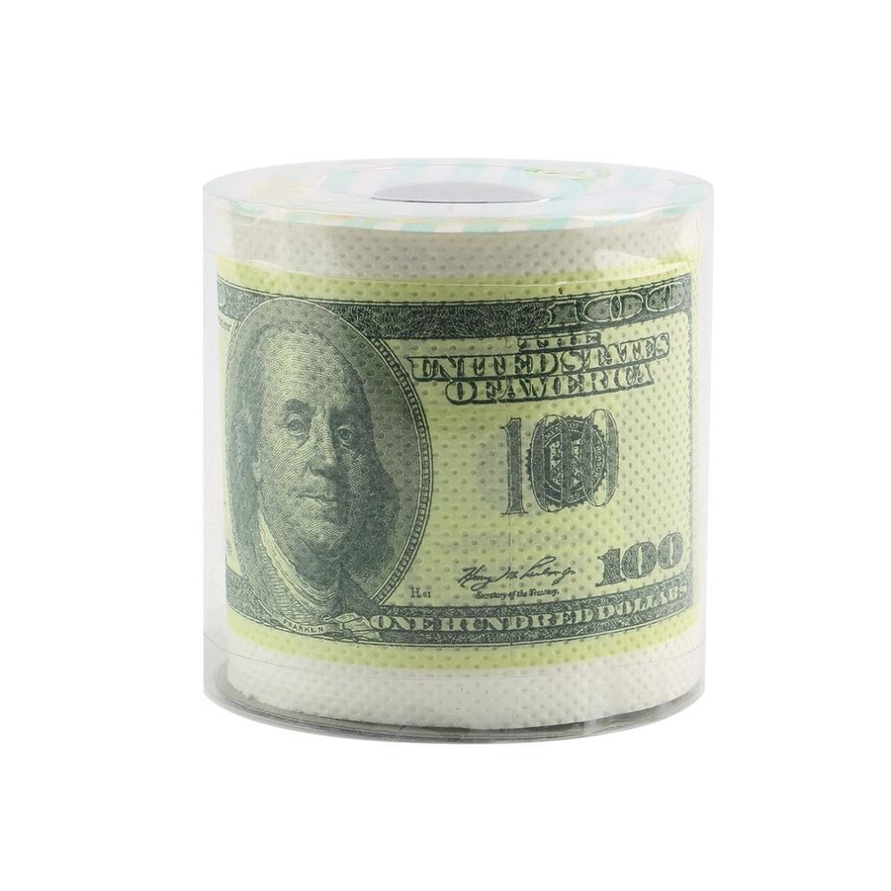 One Hundred Dollar Bill Toilet Paper Novelty Fun $100 TP Money Roll Gag Gift Beauty & Health Sanitary Paper