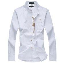 2017 new arrivel seasons fashion casual large size mandarin collar cotton men's long sleeved shirt M-6XL