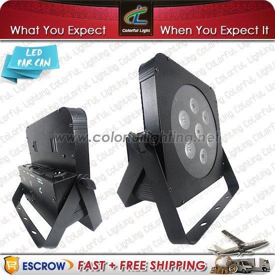 Free Shipping Whole and Retail price 20pcs/Lot 7 x 3w Tricolor LED Slim Par Mini Par Light