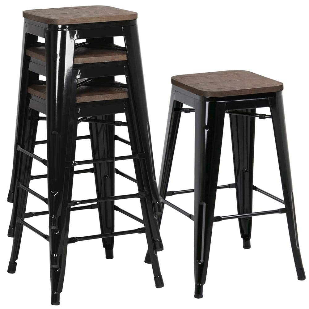 26 Barstools Set Of 4 Counter Height Metal Bar Stools