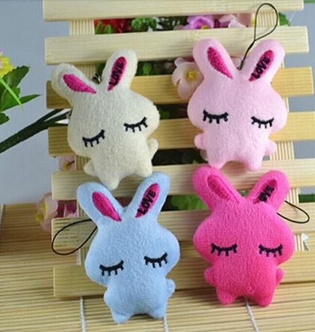 4PC Cute Rabbit Baby Soft Plush Kids Baby Toys Cartoon Rabbit Embrace Heart Bowkot Stuffed Toys Gift