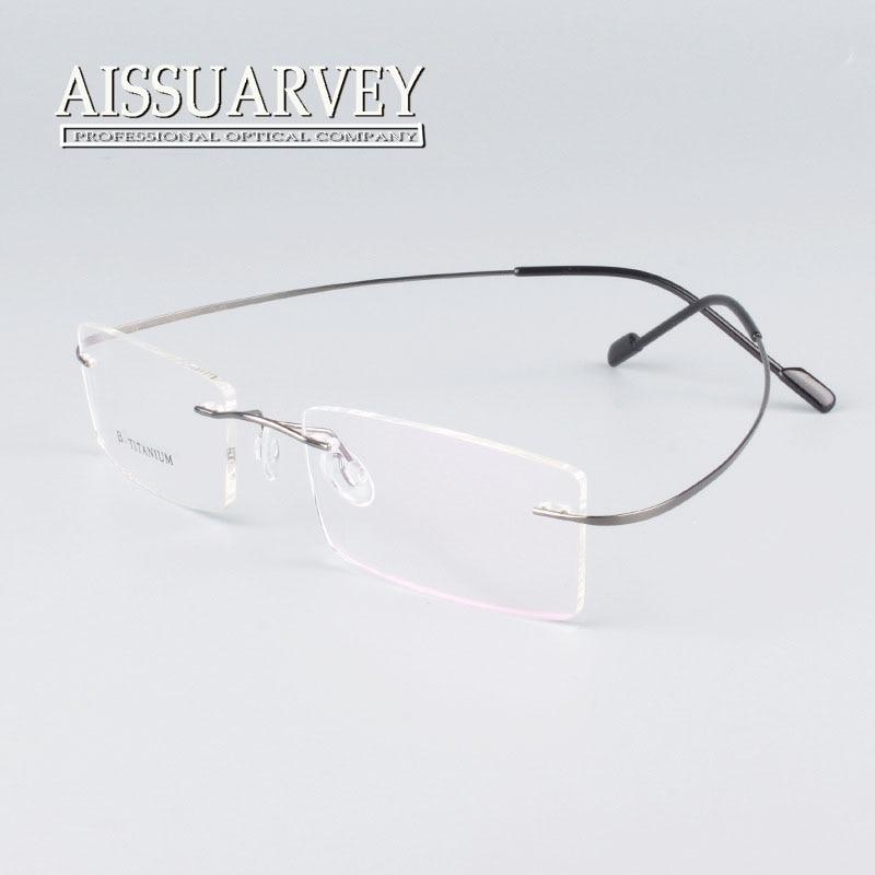 rimless titanium glasses frame men women fashion brand designer eyeglasses prescription glasses online clear lenses light