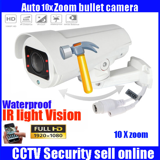1080P 2MP Full HD Bullet IP Camera PTZ 4X 10X Motorized Zoom AUTO FOCUS Varifocal Network Outdoor P2P CAM ONVIF CCTV camera gaude