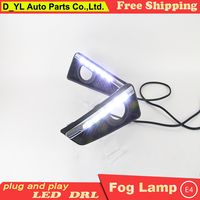 Car styling For Honda CIty LED DRL For Honda CIty 2015 led fog lamps daytime running lights High brightness guide LED DRL