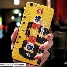Retro Music tape classic Radio tape embossed Relief case For Iphone 7 plus 8 plus cover FOR Iphone 6 plus 6s plus case 6splus цены