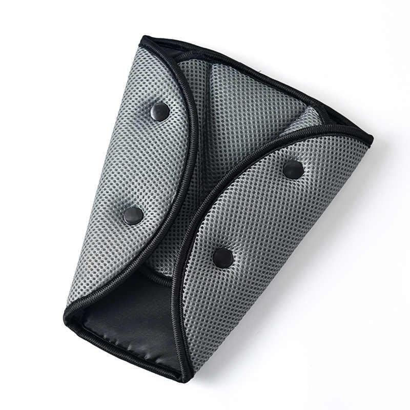 Yaz araba güvenli uyum emniyet kemeri sağlam ayarlayıcı örgü nefes araç emniyet kemeri ayarlamak cihazı üçgen bebek çocuk koruma