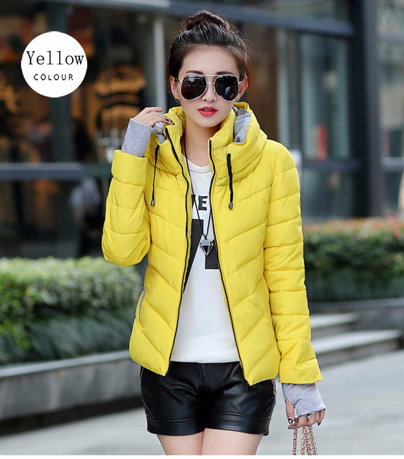 Winter Jacket Women Parkas Thicken Outerwear solid hooded Coats Short 31