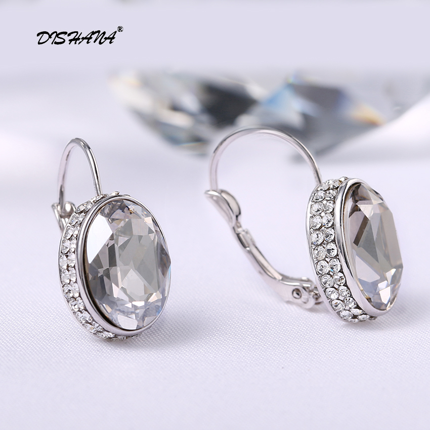 Kristal Drop Earrings untuk Wanita Pendientes Mujer Moda Emas-warna - Perhiasan fashion - Foto 2