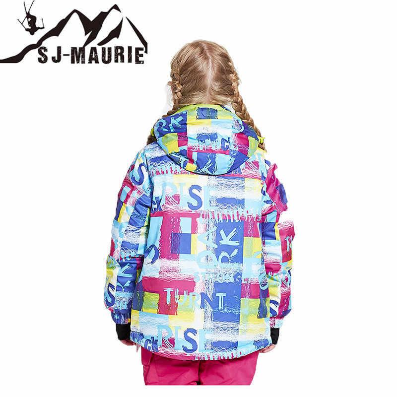 SJ-Maurie/спортивная одежда для улицы, детская одежда, зимний лыжный костюм, ветрозащитные куртки для сноуборда, зимняя одежда для девочек, одежда для мальчиков