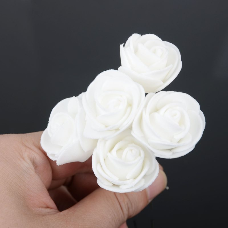 6pcslot Beauty Wedding Bridal White Rose Flower Hair Pin Hair Clip