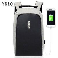 YULO Multifunction USB Charging Men 15inch Laptop Backpacks For Teenager Fashion Male Mochila Leisure Travel Anti
