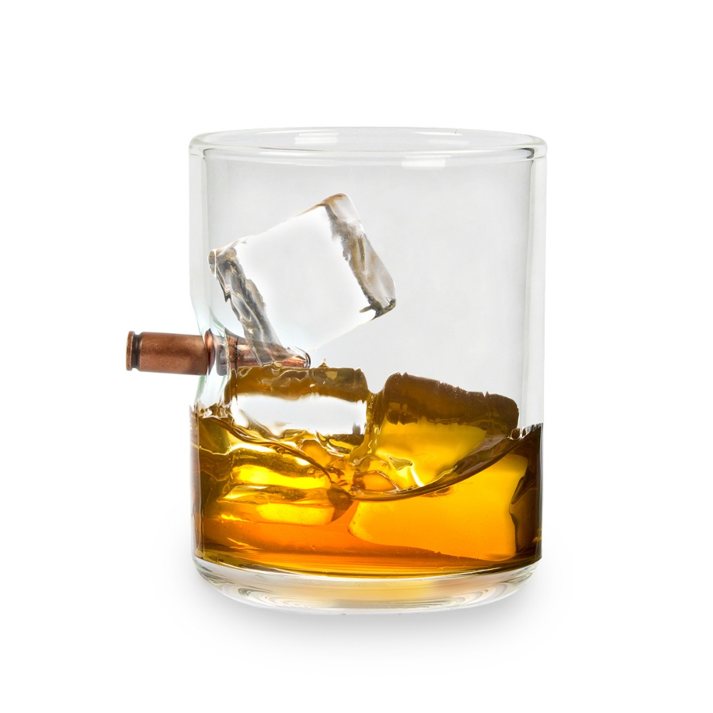 200ml Bullet Whisky Bar Wine Glasses Glass Cup Crystal Bullet Vodka Shot Wine Glass Hand blown