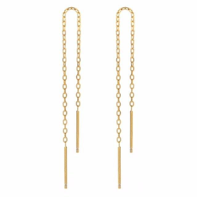Серьги с золотым покрытием и кисточками длинные цепочки ювелирные