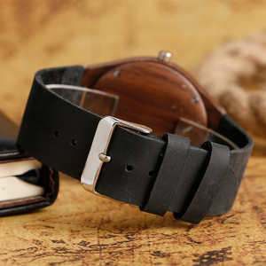 Image 4 - Mens Analog Nature Wood Quartz Fashion Women Sport Watches Genuine Leather Band Bamboo Casual Wristwatch Relojes Montres