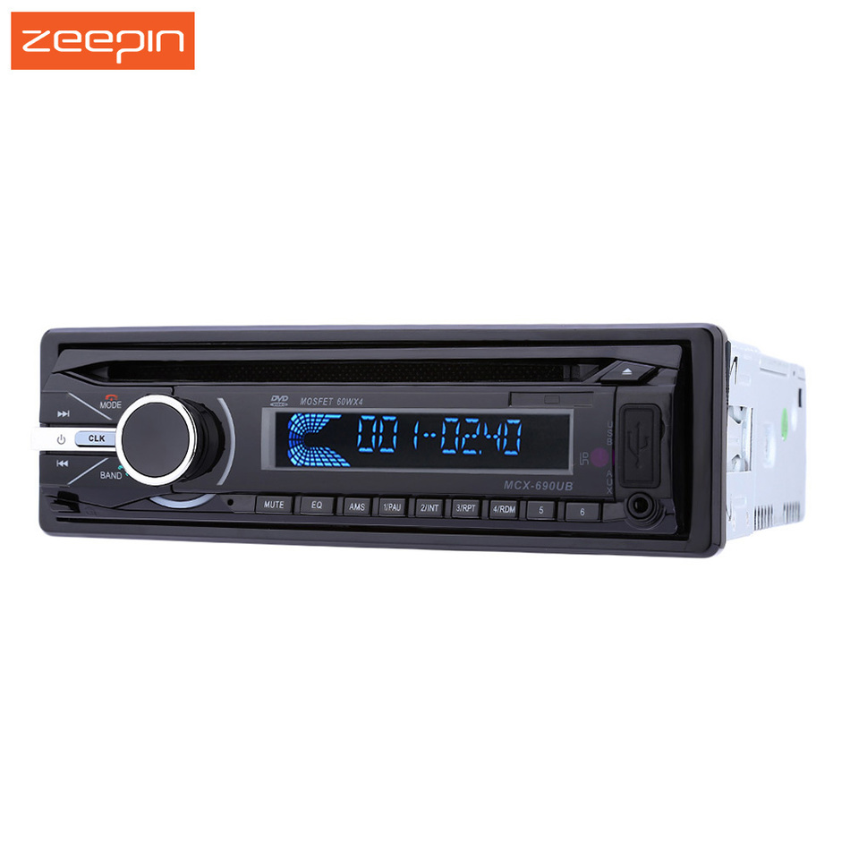 690 One Din 12V Bluetooth FM Car Stereo Audio Radio Player MP3 Music DVD CD Player In Dash Aux Receiver Support USB SD MMC Card 1 din car stereo radio audio player receiver fm aux cd dvd wma mp3 player usb sd slot detachable panel for sedan suv truck etc