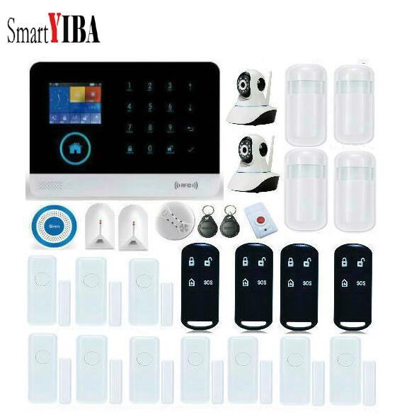SmartYIBA WIFI Wireless Home Burglar Security GSM font b Alarm b font System Wireless Siren Video