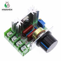 Free Shipping AC 220V 2000W SCR Voltage Regulator Dimming Dimmers Speed Controller Thermostat