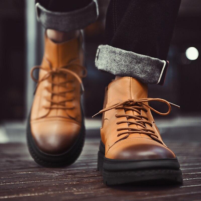 brown De Top Sécurité Fur Réel Hiver black Hommes D'hiver Bottes Chaud black Mâle Boot 978 Fur Travail High Cheville Brown En Chaussures Hh Cuir 76gvYfby