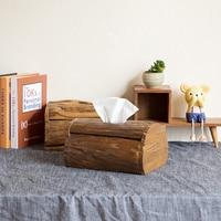Тайский Тиковый тканевый ящик из твердой древесины коробка для салфеток Европейский ретро гостиная предмет интерьера, украшение лотка