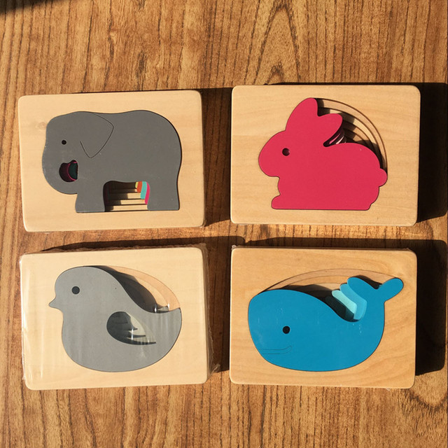 Kid's Wooden 3D Educational Puzzles