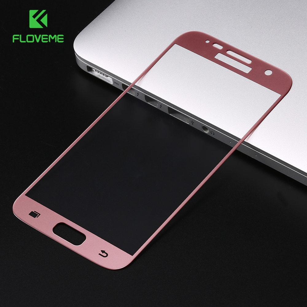 FLOVEME 3D Premium Tempered Glass <font><b>For</b></font> <font><b>Samsung</b></font> <font><b>Galaxy</b></font> S7 S7 <font><b>Edge</b></font> S6 <font><b>Edge</b></font> S6 Tough Screen Protector Film <font><b>Curved</b></font> Surface Full Cover