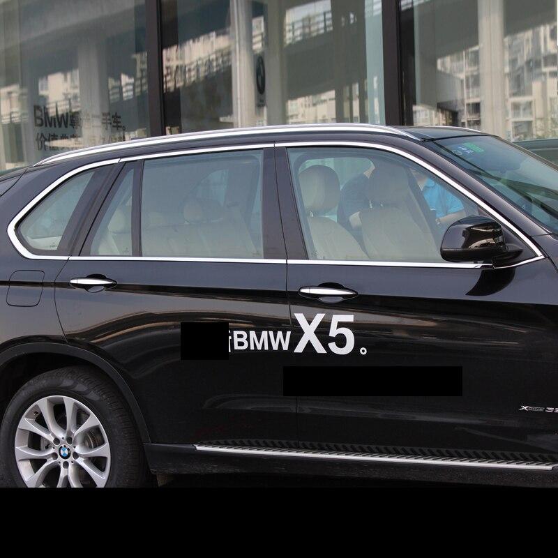 Lsrtw2017 304 en acier inoxydable voiture fenêtre garnitures pour bmw x5 2007 2008 2009 2010 2011 2012 2013 2014 2015 2016 2017 2018 e70 f15