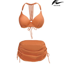 New bikini women high waist plus size swimwear for fat female large size swimsuit swimming suit beachwear bathing suit