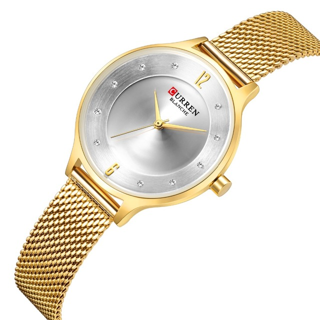 CURREN Women Watch New Quartz Top Brand Luxury Fashion Wristwatches Ladies Gift  relogio feminino 9036