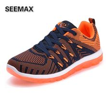 Brand Men's Professional Running Shoes Air Mesh Weave Breathable Anti-Slip Sports Fitness Trail Run Athletic Trainers Sneakers