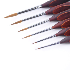 Image 3 - Ручка с крючками для рисования акварелью, профессиональная кисть для рисования гуашью, маслом, принадлежности для творчества, 6 шт.