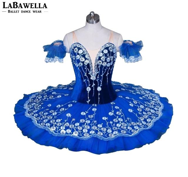 c931394dad526 Adult Professional Ballet Tutu Blue BT9031 Women Nutcracker Ballet Stage  Costume Competition Platter Pancake Performance Tutus