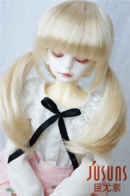 JD254 MSD Synthetic mohair doll wigs 7-8 inch pig tails BJD Wig