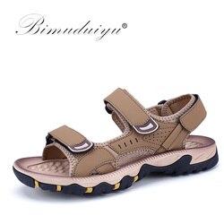 Bimuduiyu high quality leather sandals hot sale new fashion summer shoes handmade leisure beach men sandals.jpg 250x250
