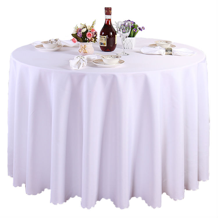 Free DHL 10 Pieces 120 Inch White Polyester Round Tablecloth Linen Banquet  Table Linen Wedding Decoration
