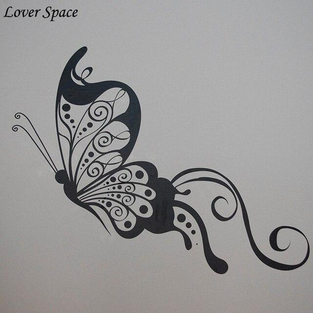 Custom made name Butterfly Wall Stickers Home Decor Cartoon ...