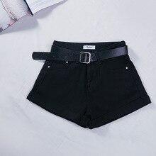 Basic Geboeid Katoen Denim Shorts Vrouwen Hoge Taille Gewassen Essentiële Jeans Shorts SML XL