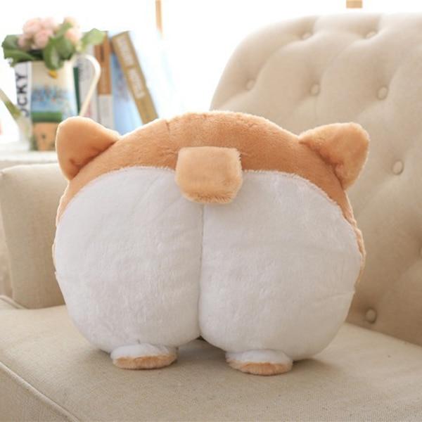 Universal Car Neck Pillow Headrest Seat Cute Soft Corgi Butt Shape Pillows NR-shipping