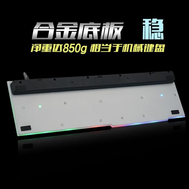 7 Color Backlight Gaming Keyboard Gamer Teclado Gaming Wired USB Keyboard with Similar Mechanical Feel Floating LED Backlit