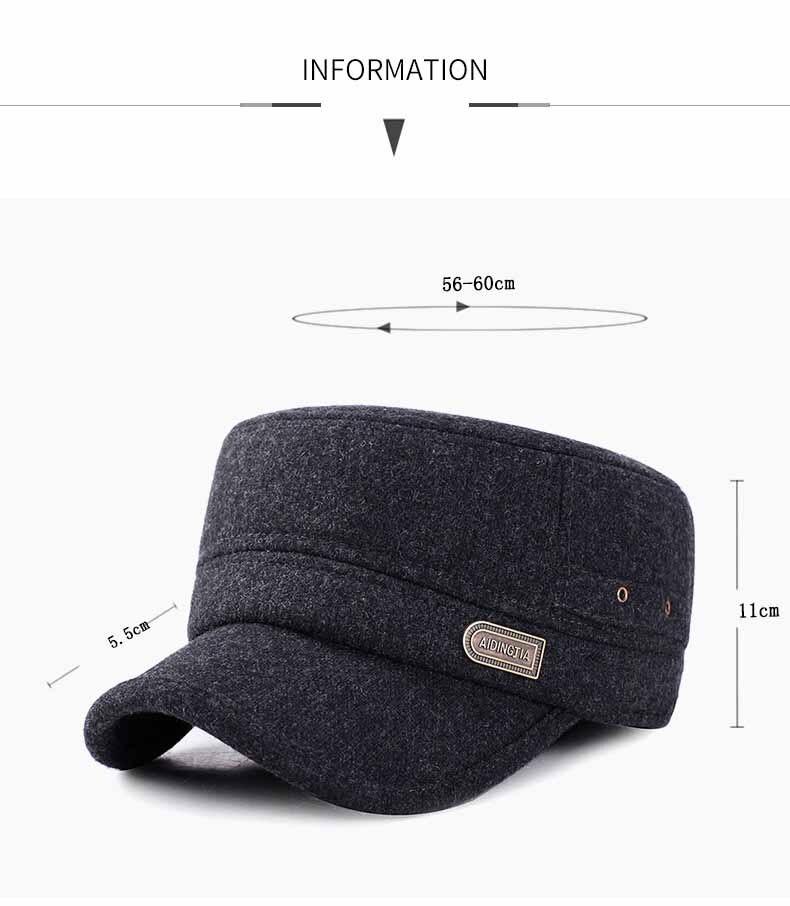 chapéu pai com engrossar manter quente earmuffs chapéus