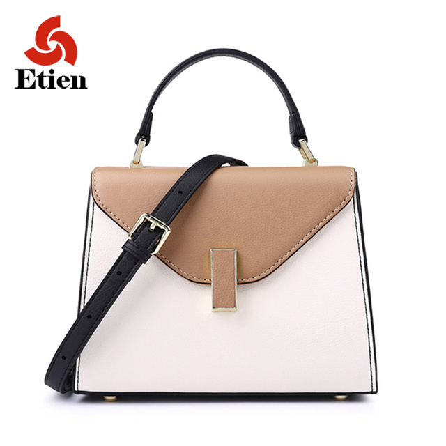 2017 new fashion women bag Genuine Leather women's handbag shourder bags luxury Designer Messenger bag Leather small square bags