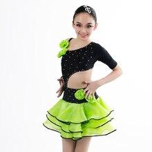 New style latin dance costumes senior sexy spandex flowers latin dance dress for women / girls latin dance dresses S-4XL