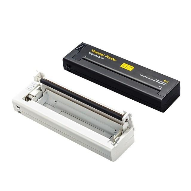 מיני נייד אור מדפסת A4 נייד משרד תרמית מדפסת + USB ממשק, קטן קומפקטי 216mm נייר תרמי מדפסת עבור מחשב נייד
